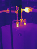 Thermogram - Hot Water Pipes Photographic Print by  Scientifica
