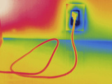 Thermogram - Electrical Outlet in Use Photographic Print by Scientifica