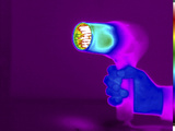 Thermogram of a Hair Dryer Photographic Print by  GIPhotoStock
