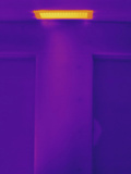 Thermogram of Ceiling Heating Vent Photographic Print by  Scientifica