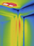 Thermogram - Ceiling Heating Vent Photographic Print by Scientifica