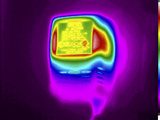 Thermogram of an Ac Adapter Photographic Print by  GIPhotoStock