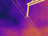 Thermogram - High Voltage Power Line Photographic Print by  Scientifica
