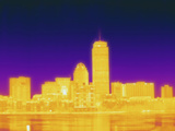 Thermogram of Boston, Massachusetts Photographic Print by  Scientifica