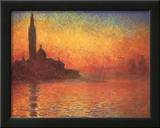Dusk in Venice Print by Claude Monet