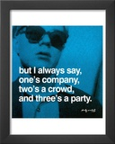 Three&#39;s a Party Prints by Andy Warhol
