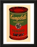 Campbell&#39;s Soup Can, 1965 (Green and Red) Posters by Andy Warhol