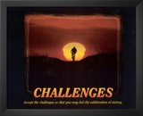 Challenges (Bicyclist) Art Poster Print Posters