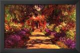 Claude Monet Path in Monet's Garden in Giverny Art Print Poster Art