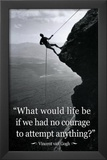 Vincent Van Gogh Life Courage Motivational Quote Archival Photo Poster Art