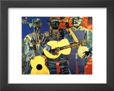 Three Folk Musicians, 1967 Art by Romare Bearden