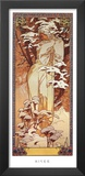 Hiver, 1900 Posters by Alphonse Mucha