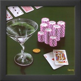 Poker Chips Big Slick Prints by Michael Godard