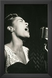 Billie Holiday Signing Archival Photo Music Poster Print Art