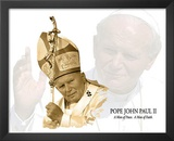 Pope John Paul II (Waving Goodbye) Art Poster Print Posters