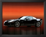 2006 Chevy Corvette Z06 Black Car Art Print Poster Posters