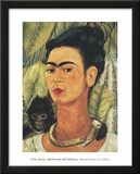 Self-Portrait with Monkey, 1938 Art by Frida Kahlo