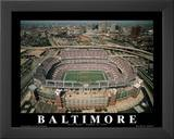 Baltimore Ravens First Game August 8, c.1998 Sports Art by Mike Smith