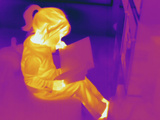 Thermogram - Child Reading Book Photographic Print by  Scientifica