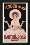 Marcello Dudovich (Vermouth Bianco, Martini & Rossi) Art Print Poster Posters