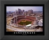 Cincinnati, Ohio - Baseball Poster by Mike Smith