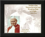 In Loving Memory (Pope John Paul II &amp; Mother Teresa) Art Poster Print Poster
