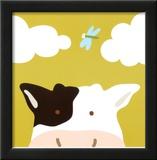 Peek-a-Boo III, Cow Posters by Yuko Lau