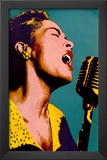 Billie Holiday Blue Pop Art Music Poster Posters