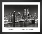 New York, New York, Brooklyn Bridge Posters by Henri Silberman