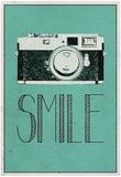 Smile Retro Camera Plakater