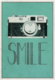 Smile Retro Camera Pósters
