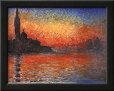 Claude Monet (Sunset in Venice) Art Poster Print Prints