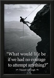Vincent Van Gogh Life Courage Motivational Quote Archival Photo Poster Photo