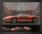 2005 Ford GT40 Orange Car Art Print Poster Posters