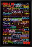 I Will Be (Motivational List) Art Poster Print Photo