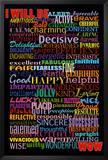 I Will Be (Motivational List) Art Poster Print Photo