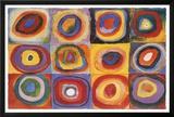 Estudio de color: Cuadrado, ca.1913 Póster por Wassily Kandinsky