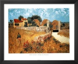 Vincent Van Gogh (Ferme En Provence) Art Poster Print Posters