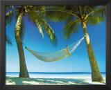 Paradise (Hammock on Beach) Art Poster Print Prints