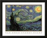 Vincent Van Gogh Starry Night Art Print Poster Prints