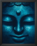 Blue Buddha (Face) Art Poster Print Posters