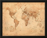 World Map - Antique Prints
