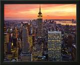New York City (Empire State Building, Sunset) Art Poster Print Prints