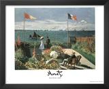 Claude Monet (Garden at St. Adresse) Art Print Poster Prints