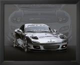1995 Mazda RX7 Silver Car Art Print Poster Prints