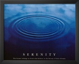 Serenity (Drops in Water) Motivational Art Poster Print Print