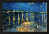 Vincent Van Gogh Starry Night Over the Rhone Art Print Poster Print