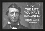 Live The Life You Have Imagined Henry David Thoreau Quote Poster Prints