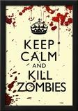 Keep Calm and Kill Zombies Humor Print Poster Prints
