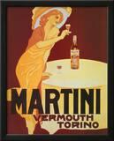 Martini Vermouth Torino Vintage Ad Art Print Poster Print
